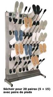 Séchoir pour bottes / chaussures. INOX