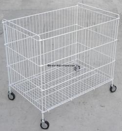 chariot linge pliable pour blanchisserie. Black Bedroom Furniture Sets. Home Design Ideas