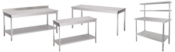 Tables de tri et de pliage en inox