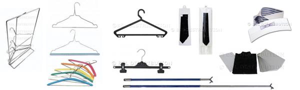 Cintre pressing métallique et accessoires pour cintre
