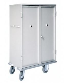 Chariot armoire à linge 2 étagères avec portes