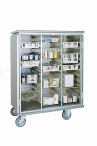 Armoire de rangement 3 sections pour bacs ISO-NORM