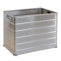 Caisse de transport du linge gerbable en aluminium