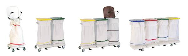 Porte-sacs en aluminium et plastique ABS
