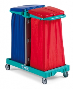 Chariot de collecte du linge double MAGIC 100B