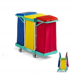 Chariot de collecte du linge triple MAGIC 50B