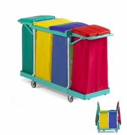 Chariot de collecte du linge quadruple MAGIC 190B