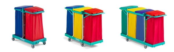 Chariots porte-sacs pliants MAGIC, en plastique ABS