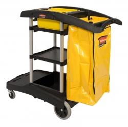 Chariot de ménage / nettoyage professionnel - grande capacité
