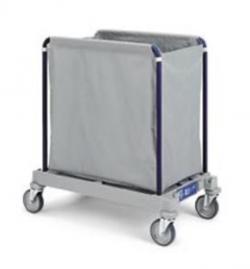 Chariot de collecte du linge pour blanchisserie 300L