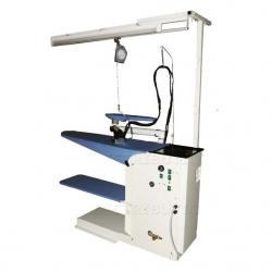 Table à repasser industrielle - Chauffante, aspirante et soufflante - Vapeur illimitée