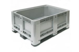 Caisse palette plastique basse 330L - 3 semelles