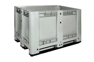 Caisse palette plastique haute 470L - 3 semelles