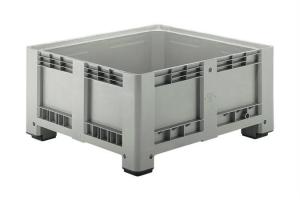 Caisse palette plastique basse 430L - 4 pieds