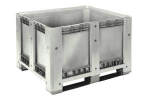 Caisse palette plastique haute 610L - 2 semelles