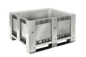 Caisse palette plastique basse 430L - 2 semelles
