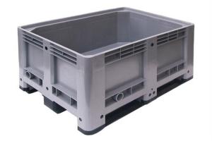 Caisse palette plastique basse 430L - 3 semelles