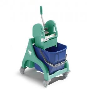 Chariot avec seau de lavage et presse à mâchoire