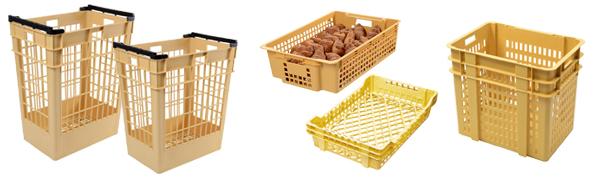 Bacs à viennoiserie et mannes à pain