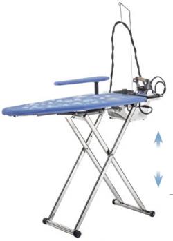Table à repasser professionnelle ULYSSE - Plateau ajustable en hauteur