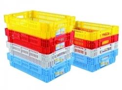 Caisse ajourée plastique empilable / emboitable Euronorm 600x400mm - Colorée