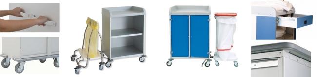 Options pour armoire à linge professionnelle