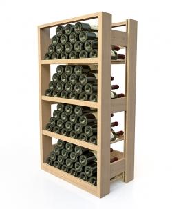 Présentoir à vin professionnel, en bois - 40 à 72 bouteilles de vin 75cl