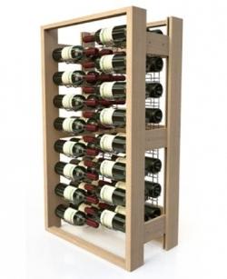 Présentoir à vin professionnel, en bois - 48 bouteilles de vin 75cl