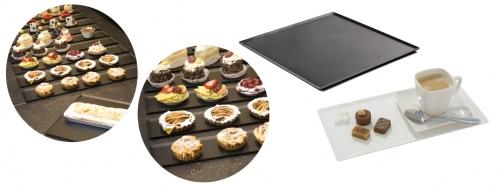 Plaque de présentation pâtisseries / viennoiseries - Gamme SMOKE