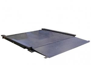 Plateforme de pesage du linge professionnelle ACIER avec 1 rampe incluse, portée 150 à 3000kg. ( PLP Acier )