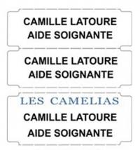 Etiquettes thermocollantes pour marquage du linge