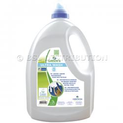 Lessive liquide concentrée GREEN'R ULTRA WASH 3L, hypoallergénique