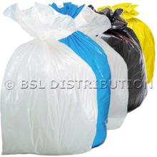 Sac poubelle 50L Coloré - Lot de 500 sacs