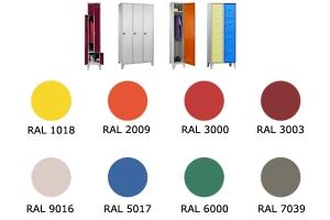Option porte colorée pour armoire vestiaire métallique