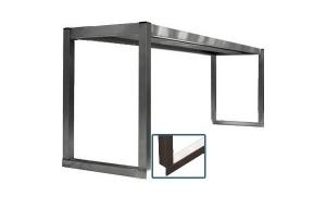Étagère simple inox sur colonnettes (pour table inox) - 1 Niveau