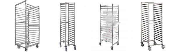Chariots échelles inox - Structure monobloc / soudée