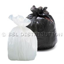 Sac poubelle 100L Blanc ou Noir - Lot de 200 sacs