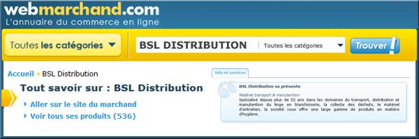 Webmarchand - BSL DISTRIBUTION :