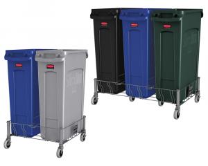 Socle en acier INOX pour collecteur à déchets Slim Jim