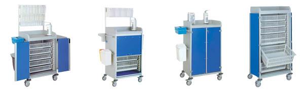 Chariots de soins - Matériel médical et fourniture centre hospitalier