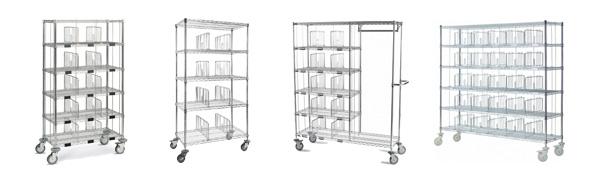 Chariots à casiers - Fourniture médicale et équipement pour hôpitaux