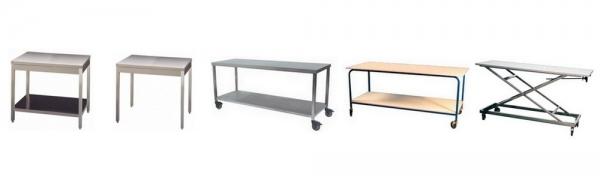 Tables de travail INOX - Matériel médical et équipement pour hôpitaux