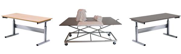 Table ergonomique tri / pliage - Matériel maison de retraite