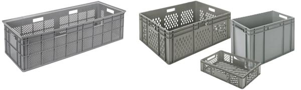 Bacs Plastiques Euronorm Gerbables - Equipement / Matériel EHPAD