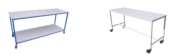 Tables de tri et de pliage en bois mélaminé - Matériel / Equipement mairie et collectivité