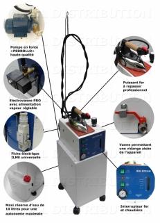 Centrale vapeur professionnelle chaudière INOX 5 litres avec remplissage automatique