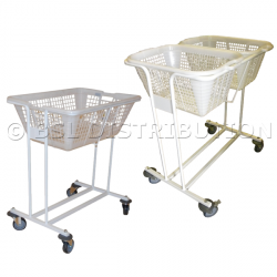 Chariot linge blanchisserie porte corbeille simple
