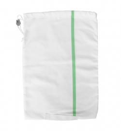 Sac à linge résident 50L Blanc liseré Vert