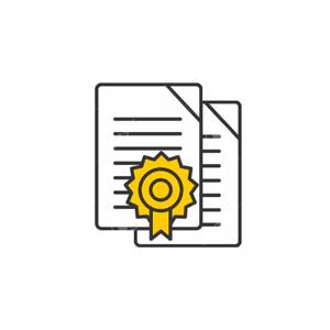 Certificat de Calibrage pour balance GBK et GFK.