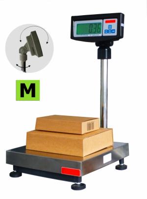 Balance de pesage avec colonne et indicateur, homologuée, portée 60 à 300kg. ( PV )